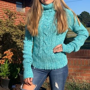 🌺Blue wool/cashmere express sweater